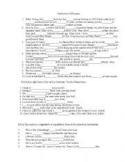 English Worksheet: grammat test before PET exam