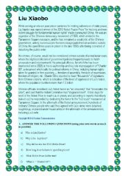 English Worksheets: Liu Xiaobo