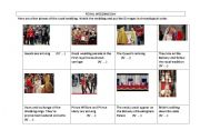 English Worksheet: The Royal Wedding Day