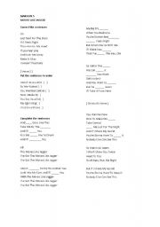 English Worksheets: Maroon 5 song worksheet
