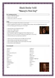English Worksheet: Black Books 1x02 - Manny´s first day