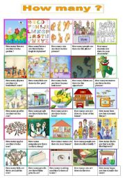 English Worksheets: How many questions