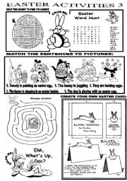 English Worksheets: EASTER ACTIVITIES 3
