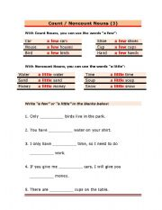 Count noncount nouns practice with countable and non countable nouns