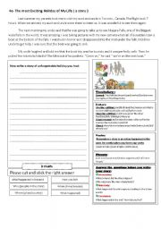 English Worksheets: Story writing practice
