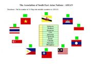 English Worksheet: The Association of South East Asian Nations : ASEAN