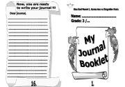 English Worksheets: Journal booklet- part1
