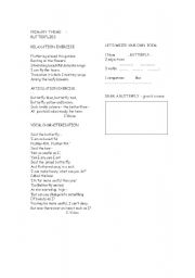 English Worksheets: Butterfly theme