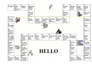 English Worksheets: Introductions Gameboard