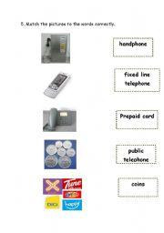English Worksheets: types of telephone