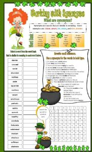 English Worksheet: Synonyms