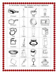 kitchen utensils worksheet just b cause. Black Bedroom Furniture Sets. Home Design Ideas