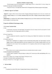 English Worksheet: Methods and approaches of teaching