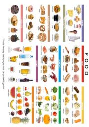 English Worksheet: FOOD POSTER 1/3