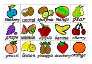 English Worksheet: Fruits Flashcards #1 (small)