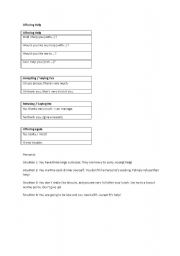 English Worksheets: Offering Help