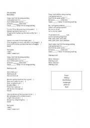 English Worksheet: The Lazy Song - Bruno Mars (Listening Activity)