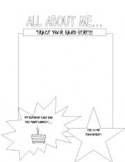 English Worksheets: ALL BOUT MYSELF