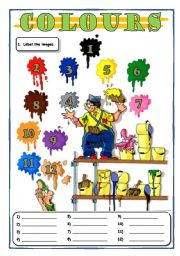English Worksheet: Colours, colours, colours... of the Rainbow!!!