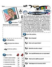 English Worksheet: RC Series_U.S Edition_25 John F Kennedy (Fully Editable)