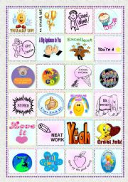 English Worksheet: 24 Reward Stickers