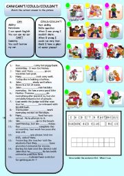 English Worksheet: MODAL VERBS, CAN, CAN�T, COULD, COULDN�T
