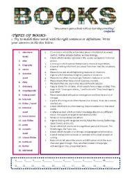 English Worksheets: BOOKS