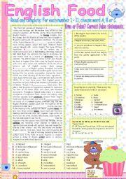 English Worksheets: ENGLISH FOOD.