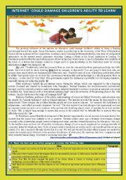 English Worksheet: Kids and