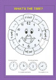 English Worksheet: The clock