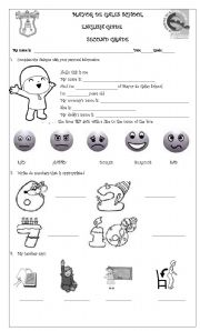 English Worksheets: Second various