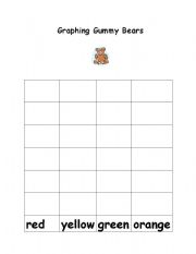 English Worksheets: gummy bear graphing