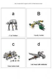 English Worksheet: Star Wars ABC spaceships