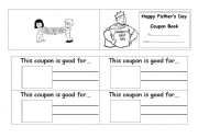 English Worksheet: Father´s Day Coupon Book