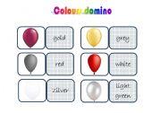 English worksheet: colours domino