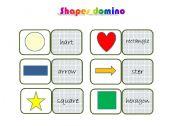 English worksheet: shapes domino