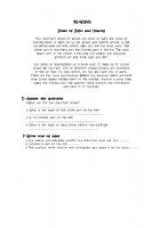 English Worksheets: sense of sight and hearing