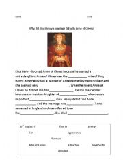 English Worksheets: Anne of Cleves