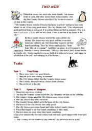 English Worksheets: Two mice