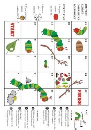 English Worksheet: The very hungry caterpillar - Boardgame