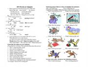 English Worksheets: Wh-Words as Subjects