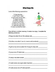 English Worksheets: annoying