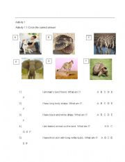 English Worksheets: Practice Stage Stage Activity
