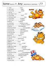 English worksheets: some any worksheets, page 15