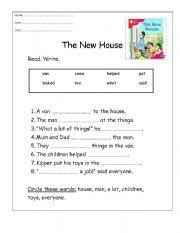 English worksheet: The New House