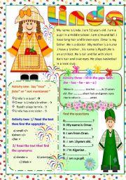 English Worksheets: Linda