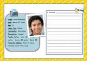 English Worksheets: Profile Writing