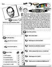English Worksheet: RC Series Famous People Edition_03 Steve Jobs (Fully Editable)