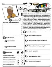 English Worksheets: RC Series Famous People Edition_02 Nelson Mandela (Fully Editable)