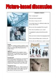 English Worksheet: unemployment picture-based discussion